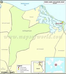 Where is Port Said | Location of Port Said in Egypt Map