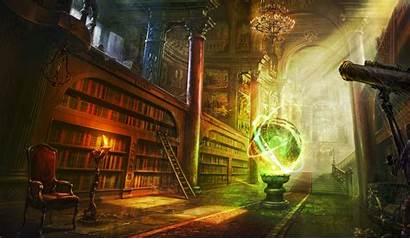Fantasy Library Desktop Backgrounds Wallpapers Mobile