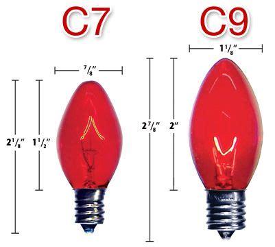 c7 bulb size c7 and c9 light bulbs size comparison shopping c9 lights lights