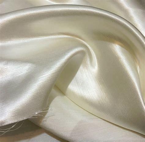 white ivory linen silk satin fabric  wide