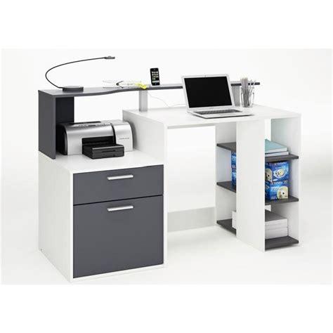 cdiscount bureau oracle bureau 140 cm blanc gris achat vente bureau