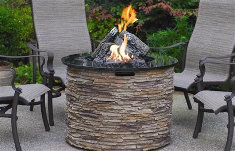 Patio Table With Fire Pit Costco Inspire Furniture Ideas