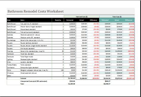 business financial calculator templates  excel