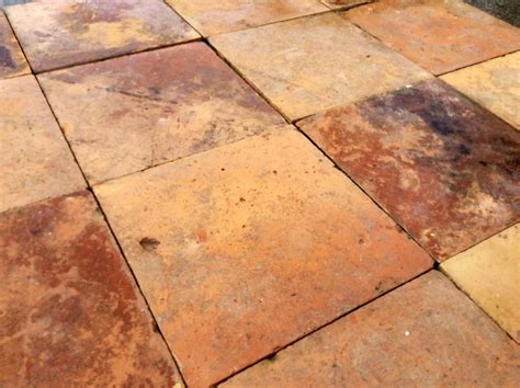 antique reclaimed terracotta floors tiles age 1895