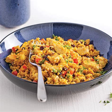 cuisine quinoa salade tiède de quinoa et de poulet au cari recettes