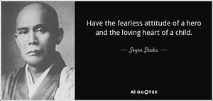 Soyen Shaku quo... Childlike Attitude Quotes