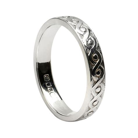 silver celtic knot wedding band