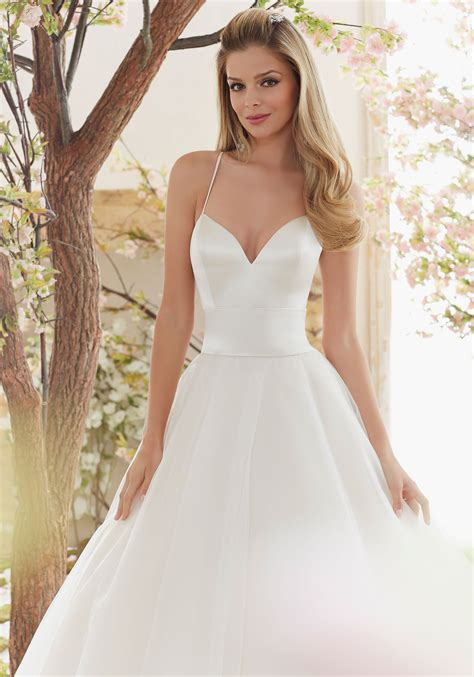 Duchess Satin And Tulle Ball Gown Wedding Dress Style