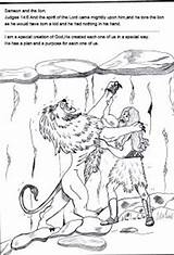 Samson Bible Sunday Coloring Crafts Lion Lesson Lessons Licorice Children Stories Preschool Strong Judges Template Bites Lord Activities Printables Connect sketch template