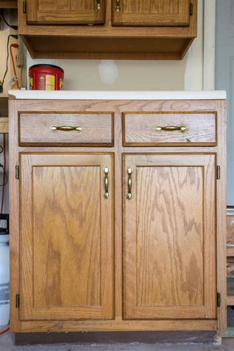 old oak cabinets painted white painted furniture removing wood grain for a smooth finish