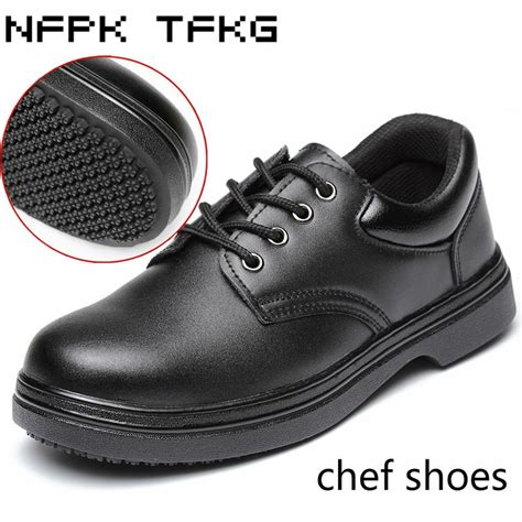 mens black large size steel toe cap work safety shoes