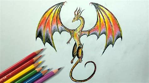 colors of dragons color pencil drawing how to draw a step by step