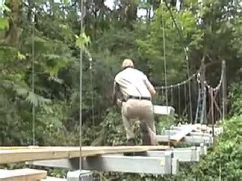 diy suspension bridge   cable locking system