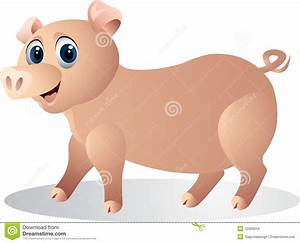 Funny Pig Cartoon Stock Images - Image: 22989204