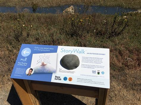 bothin marsh storywalk  stone sat   tam