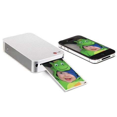 smartphone photo printer the pocket sized smartphone photo printer hammacher