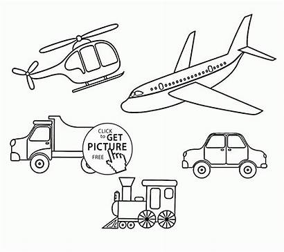 Transportation Coloring Pages Different Printables Limousine Toddlers