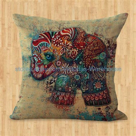 Pillow Slipcovers by Us Seller Lucky Elephant Animal Cushion Cover Throw