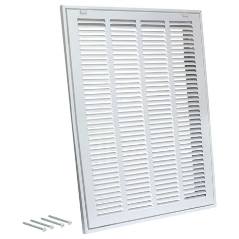 decorative return air grille 20 x 20 truaire 24 in x 12 in white return air filter grille