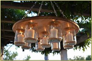 outdoor candle chandelier non electric home lighting With no electric outdoor lighting