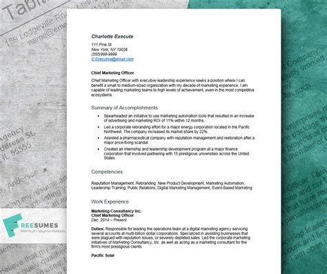 Acceptable Resume Fonts by Great Resume Exle For Executives Learn How To Craft