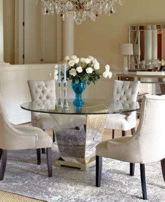 marais dining room furniture  piece set  mirrored