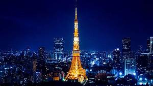 Buildings City City Lights Japan Night Time Skyscrape