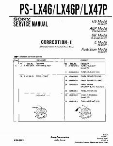 Sony Ps-lx46  Ps-lx46p  Ps-lx47p Service Manual