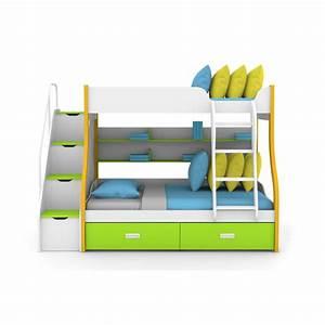 Lit Superposé Rangement : lit superpose escalier avec rangement ~ Teatrodelosmanantiales.com Idées de Décoration