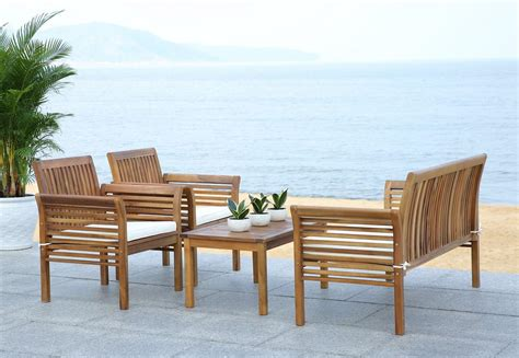 Safavieh Patio Furniture by Pat7005a Patio Sets 4 Furniture By Safavieh
