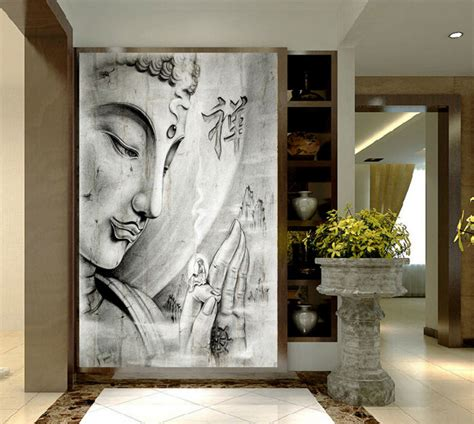 hd print white religion buddha painting on canvas wall print home decor wall picture