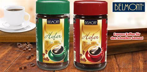 belmont express kaffee hofer von aldi sued