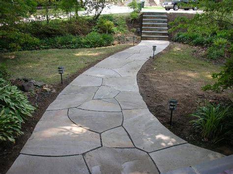 flagstone walkway gallery green acre sod tulsa sod farm