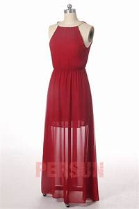 solde robe maxi bordeaux taille m persunfr With robe maxi pas cher