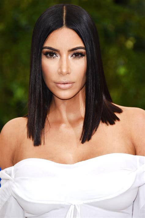 kim kardashian met gala 2017 sleek lob instyle com