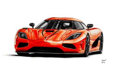 Koenigsegg Agera R Drawing By Pavee12120 On Deviantart