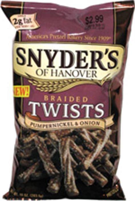 snyders  hanover braided twists pumpernickel onion
