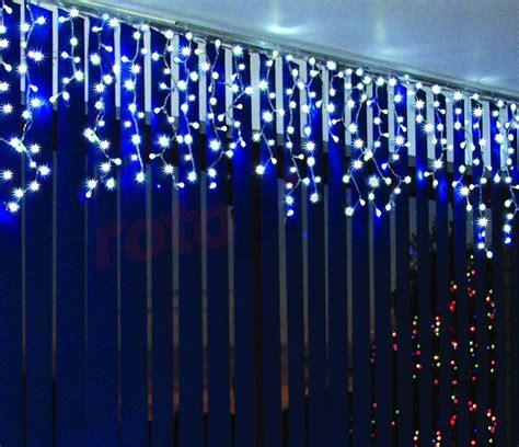 rideau lumineux pour l ext 233 rieur led stalactites bleus 60