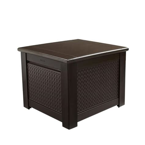 rubbermaid 56 gal chic basket weave patio storage cube