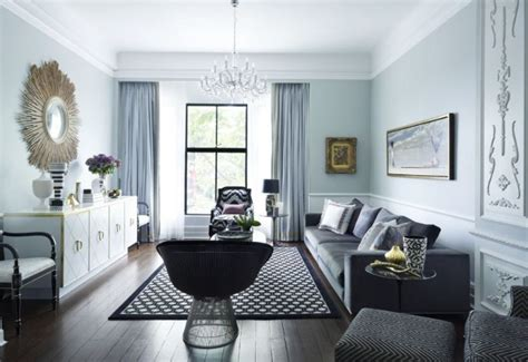 Grey Interior Color For Classic Living Room Decorating