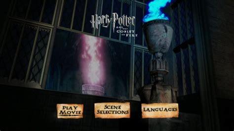 harry potter   goblet  fire  dvd menu