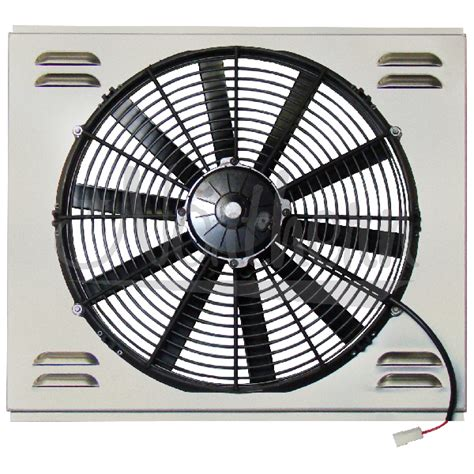 electric fan with shroud northern factory single 16 quot electric fan shroud 17 3