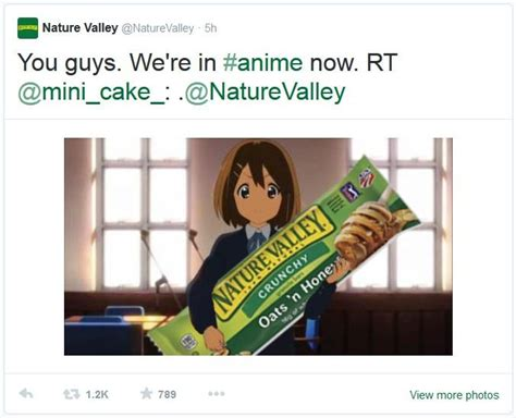 Nature Valley Meme - image 748298 nature valley anime tweets know your meme