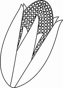 Black and White Corn Clip Art - Black and White Corn Image