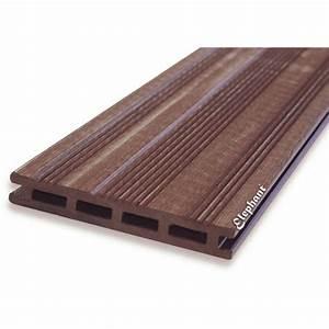 Lame Composite Pour Terrasse : lame terrasse composite marron ~ Melissatoandfro.com Idées de Décoration