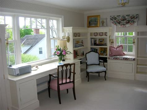 ladies sitting room traditional home office boston