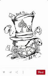 Tattoo Wonderland Alice Cat Cheshire Mad Drawings Drawing Hatter Wunderland Tattoos Sketch Tea Coloring Zeichnungen Disney Google Ausmalbilder Hat Sketchite sketch template