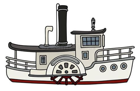 Steamboat Emoji by Funny Old Paddle Steamboat Stock Vector Illustration Of