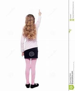 Girl standing back stock image. Image of school ...