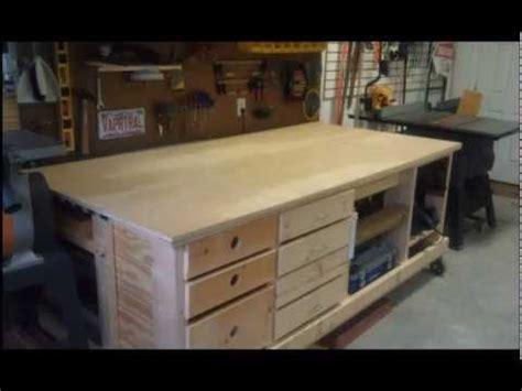 ultimate space saving workbench   garage youtube
